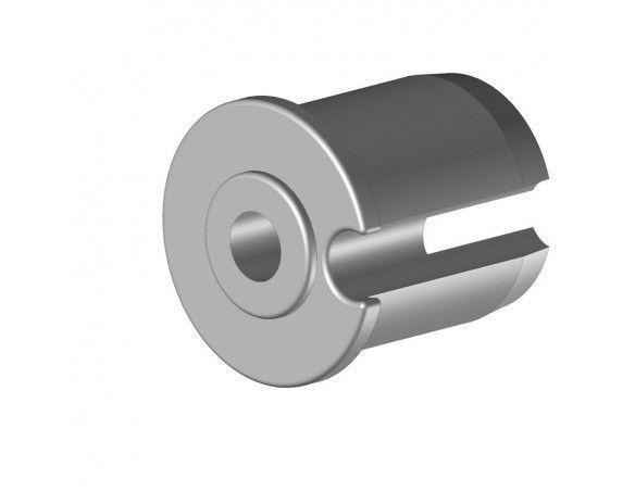 EO248PLG Tourillon plastique Ø48 mm creux Ø12 mm - Orilon - Votre spécialiste de stores, pergolas et pièces détachées