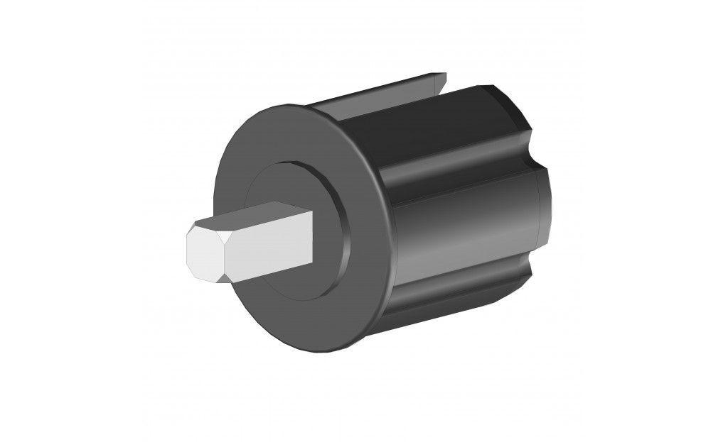 EO360LPRLG Tourillon plastique Ø60 mm axe carré 13 mm - Orilon - Votre spécialiste de stores, pergolas et pièces détachées