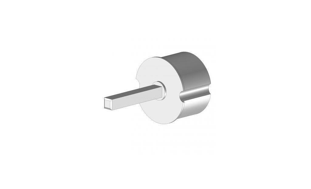 EO370TLPRLG Tourillon plastique Ø70 mm axe carré 13 mm - Orilon - Votre spécialiste de stores, pergolas et pièces détachées