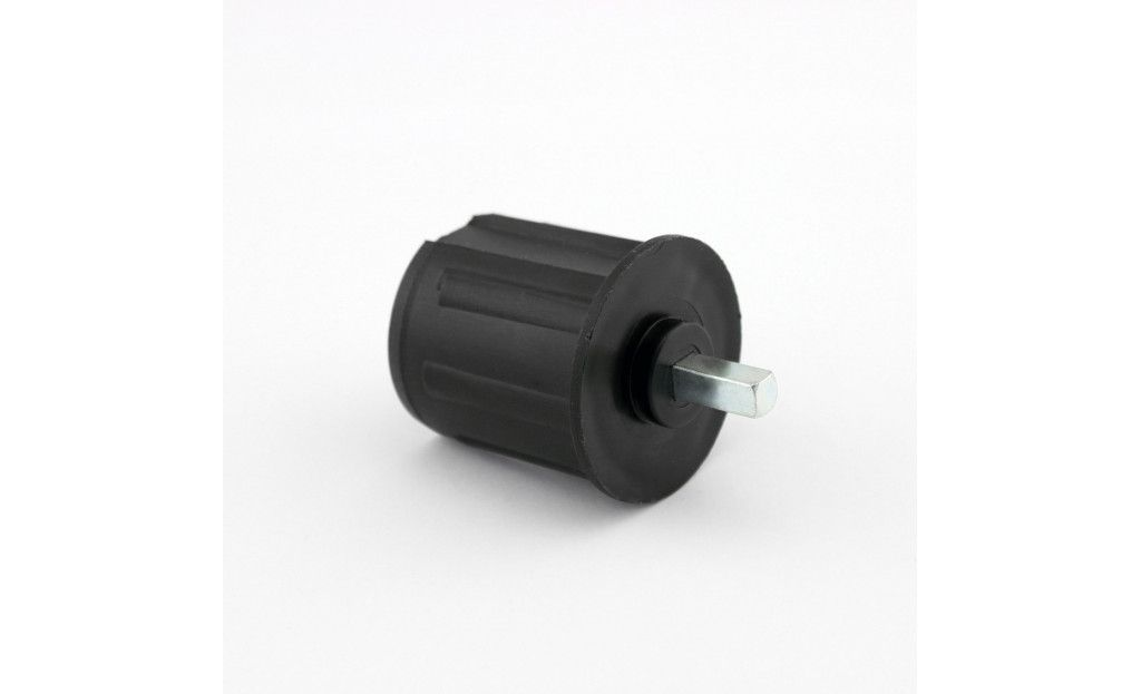 EO548PLG Tourillon plastique Ø48 mm Carré 7mm L. 20mm - Orilon - Votre spécialiste de stores, pergolas et pièces détachées