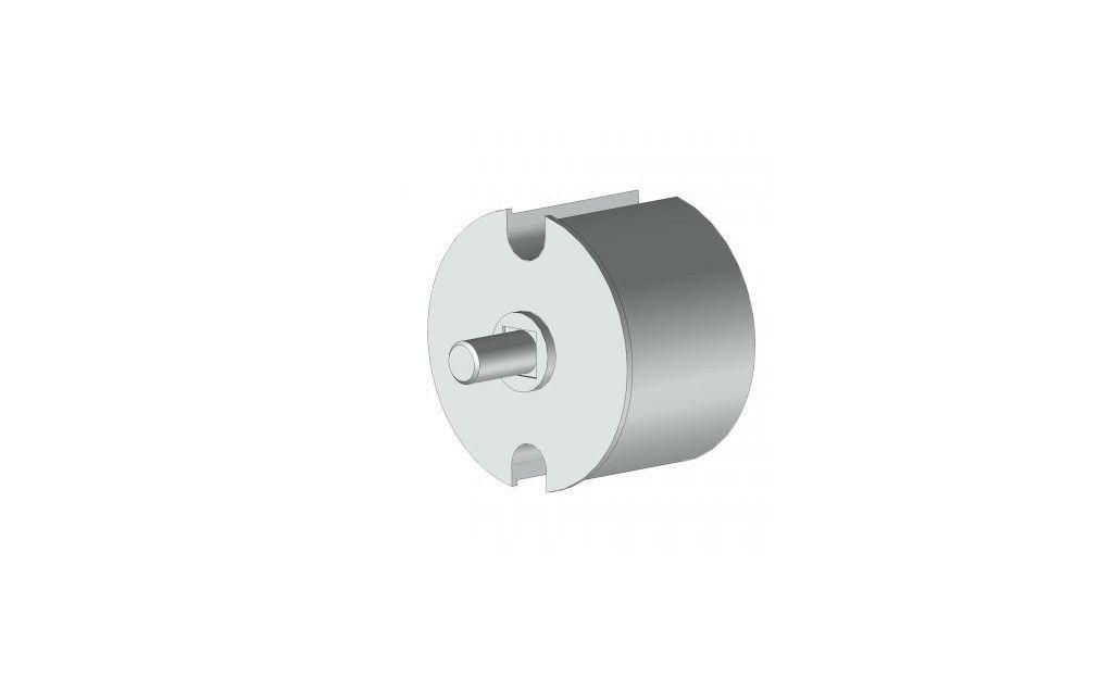 EOI178BR Tourillon ogive aluminium Ø78 mm avec axe Ø12 mm. - Orilon - Votre spécialiste de stores, pergolas et pièces détachées