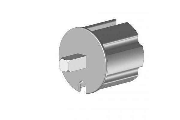 EOI370BR Tourillon 70 mm axe carré 13 mm - Orilon - Votre spécialiste de stores, pergolas et pièces détachées