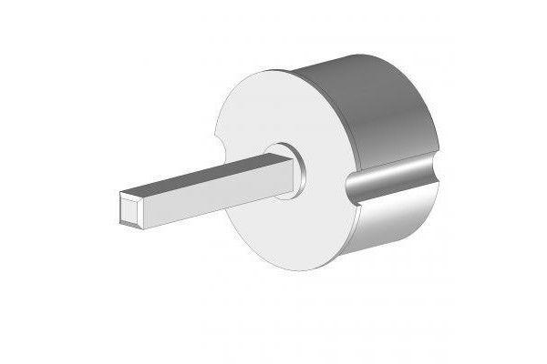 EOI378TLBR Tourillon Ø78 mm axe carré 13 mm - Orilon - Votre spécialiste de stores, pergolas et pièces détachées