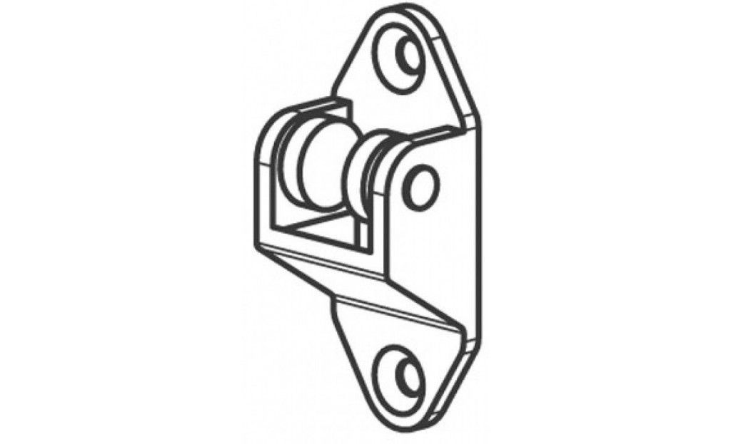 PO05PLA Poulie de renvoi de drisse - Orilon - Votre spécialiste de stores, pergolas et pièces détachées