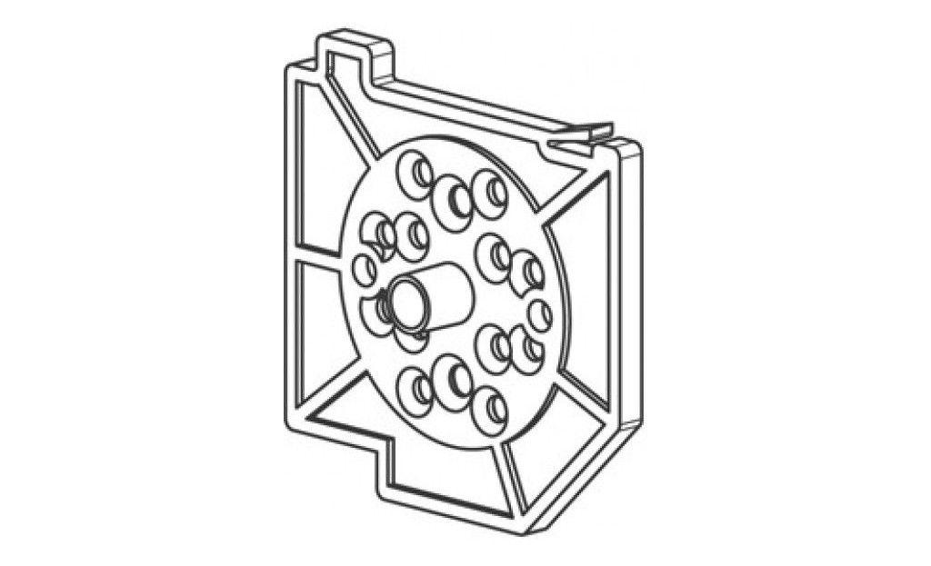 CU75ALG1 Pièce support tube - Droite - Orilon - Votre spécialiste de stores, pergolas et pièces détachées