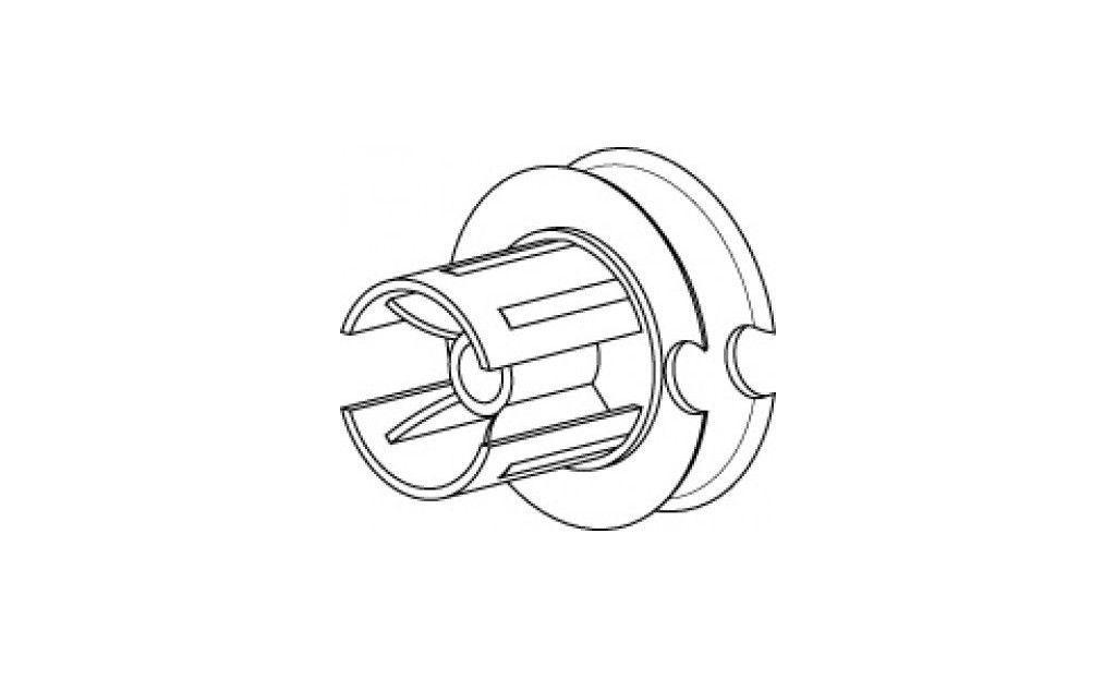 EO448P75LG Tourillon poulie Ø 75 mm - Orilon - Votre spécialiste de stores, pergolas et pièces détachées
