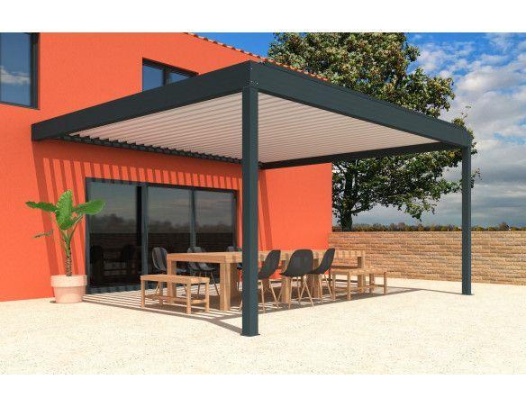 Pergola bioclimatique Orilon 3 Perpendiculaire - Orilon - Votre spécialiste de stores, pergolas et pièces détachées