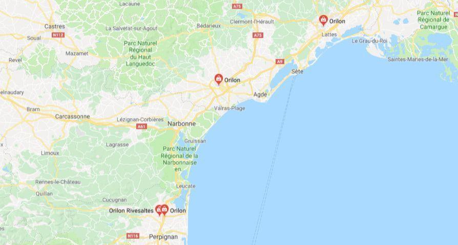 Orilon en Languedoc-roussillon